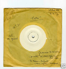 45 RPM SP GERMAINE MONTERO JE VOULAIS DES SOLEILS TEST PRESSING