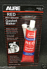 AURE RTV SILICONE GASKET MAKER RED HIGH TEMP SEALANT GAS MAKER KIT
