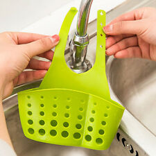 Portable Hanging Drain Kitchen Bag Basket Bath Storage Gadget Sink Holder Green