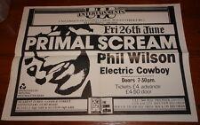 PRIMAL SCREAM AUTHENTIC ORIGINAL CONCERT POSTER ~ LONDON UNIVERSITY 26 JUNE 1987