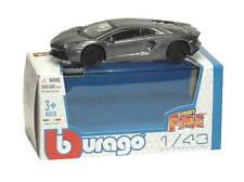 LAMBORGHINI Aventador lp700-4 in Grigio - 1:43 DIE-CAST AUTO GIOCATTOLO MODELLINO DA BURAGO