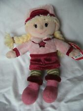 """Tesco noël hiver froid emily poupée douce peluche plush toy 9"""" tall tagged *"""