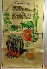 Pumpkin Soup Recipe Tea Towel Gourds Linen Cotton Australia Ross Vintage