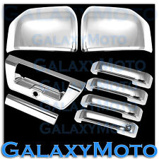 15-16 Ford F150 Chrome Mirror+4 Door handle W/O Smart HO+Tailgate w/Camera Cover