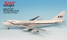 "SAS ""Knut Viking"" SE-DFZ 747-200 Airplane Miniature Model Metal Die-Cast 1:500 P"