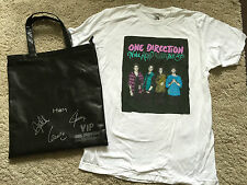 ONE DIRECTION Signed Autographed VIP Tour Bag & TShirt