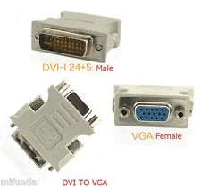 CONECTOR ADAPTADOR DE DVI-I 24+5 MACHO / MALE A / TO VGA HEMBRA / FEMALE ADAPTER