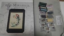 Queen Mermaid Mirabilia MD57 oop chart with Fabric and beads and Kreiniks