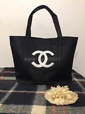 New Auth Chanel Beauté Black & White Makeup Tote Bag VIP Gift
