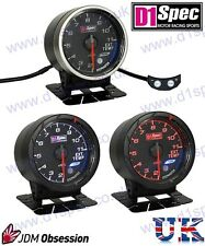 D1 SPEC EXHAUST TEMP. GAUGE 52mm BLACK IMPREZA WRX STI SUPRA MR2 EVO 7 8 350Z