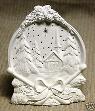Ceramic Bisque Drum Scene Silent Night Gare Mold 2676 U-Paint Ready To Paint