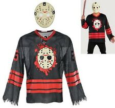 Friday The 13th Jason Voorhees Hockey Shirt & Mask Kit Adult Large / XLarge 2 Pc