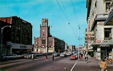 MANCHESTER NH Elm Street Scene City Hall Lynch's New Hampshire Postcard ca 1960s