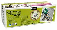 Pebeo Vitrea 160 Glossy Glass Paint Set, Cardboard Box of 10 Assorted NEW