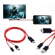 MHL Micro USB to 1080P HDMI HDTV AV TV Adapter Cable Cord For HTC ONE Max S Mini