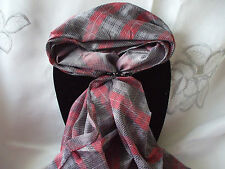 Scarf + Scarf Ring Gift Set Red and Black Check Design + Black & Silver Ring
