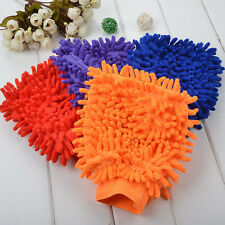 Universal 1pc Super Mitt Microfiber Car Wash Washing Cleaning Glove Random Color