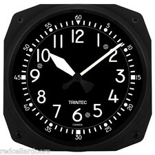 "New Trintec 10"" Classic Cockpit Style Aviation Instrument Clock 3065-10-C"