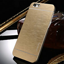 Sleek, Gold Brushed Metal Case for iPhone 6 - Fast US Shipping, iSwag4less