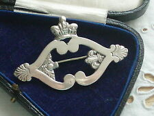 LARGE ANTIQUE VINTAGE SILVER MARY QUEEN OF SCOTS LUCKENBOOTH SWEETHEART BROOCH