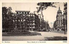 B93397 barcelona plaza y ronda de la universidad spain real photo