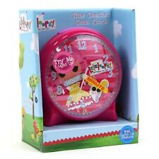 Lalaloopsy Girls Pink TIME TEACHER LIGHT UP Analog Desk Clock Ages 3+ NIB
