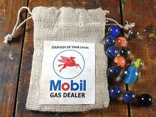Courtesy of Your Local Mobil Gas Dealer Red Pegasus Horse Gas Station Marbles