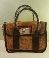 Nicole Lee Handbag/Purse Tan/Orange Crocodile Pattern New w/out Tags