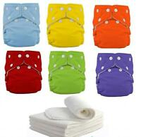Sweet New 1 Reusable Baby Washable Cloth Diaper Nappy +1INSERT pick color
