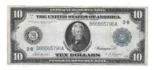 1914 $10 LARGE FEDERAL RESERVE BANK OF NEW YORK NEW YORK B86665796A