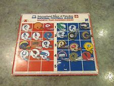 VINTAGE 1977 TEAM NFL MAGNETIC HELMETS STANDINGS BOARD INT'L HOUSE PANCAKES RARE