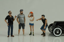 Hot rod rodder 4 Figuren Figur Figures Set 1:18 American Diorama