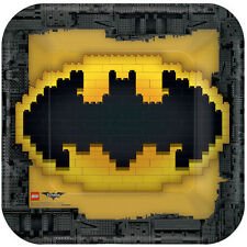 LEGO BATMAN LARGE PAPER PLATES (8) ~ Birthday Party Supplies Dinner Luncheon DC