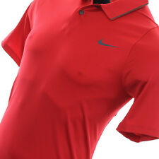 NWT Nike Tiger Woods TW VELOCITY MAX UV PIQUÉ RED Men Polo 726201-687 SZ L LARGE