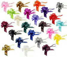 20 x 50mm CHRISTMAS PULL BOWS PRESENTS PARCELS GIFT WRAP 20 assorted colours