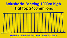 Balustrade Fencing, Balcony & Deck Fence: Flat Top 1000mm high x 2400mm long