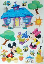 Wall stickers Mickey Minnie mouse Pluto castle Art Kids Nursery Decal removable