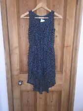 H&M Green Multi Long Back Lined Dress Size 11-12 Years BNWT *L1
