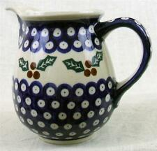 BOLESLAWIEC - HAND MADE IN POLAND - CHRISTMAS - PITCHER