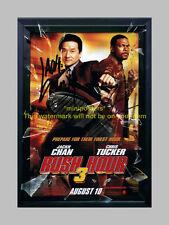 RUSH HOUR 3 MOVIE CAST x2 PP SIGNED POSTER 12X8 CHAN