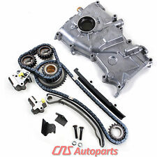 New Timing Cover Chain Kit Oil Pump for 1993-97 Nissan Altima 2.4L DOHC KA24DE