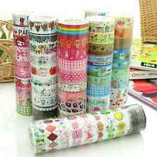 10Pcs/1.5cm*3 Meter Paper Adhesive Sticker Decorative Washi Tape Free Ship