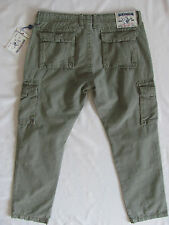 True Religion Big T Cargo Pants - Military Green -Men's Size 36/38- NWT $279