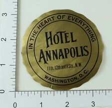 Poster Stamp Luggage Label Vintage Hotel Annapolis Washington D.C E5