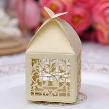 10 pcs Laser Cut Yellow Love Birds Party Candy/Favor Box