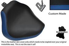 ROYAL BLUE & BLACK CUSTOM FITS YAMAHA XVS 1100 DRAGSTAR CUSTOM FRONT SEAT COVER