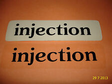 2 AUTHENTIC INJECTION BLACK STICKERS #2 / DECALS / AUFKLEBER