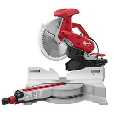 "NEW MILWAUKEE 6955-20 HEAVY DUTY 12"" DUAL-BEVEL SLIDING MITER SAW 15 AMP & BLADE"