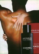 Publicité ancienne parfum eau de toilette Antaeus Chanel non parfumé