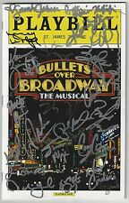 WOODY ALLEN BULLETS OVER BROADWAY  PLAYBILL Signed  Entire Cast /Vincent Pastore